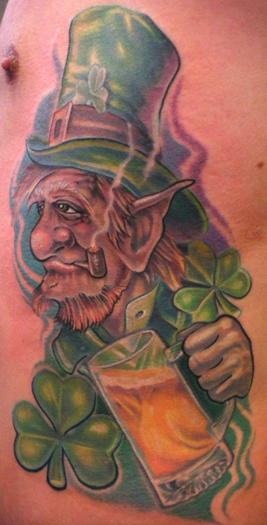 24 scary leprechaun tattoos that 39 ll freak you out. Black Bedroom Furniture Sets. Home Design Ideas