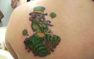Clover, Shamrock and Leprechaun tattoo (16)