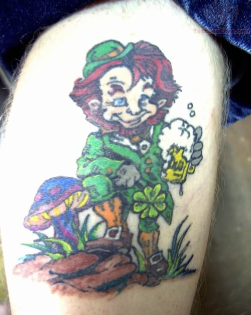 Clover, Shamrock and Leprechaun tattoo (18)
