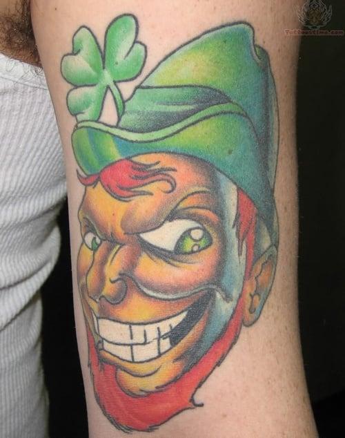 Clover, Shamrock and Leprechaun tattoo (20)