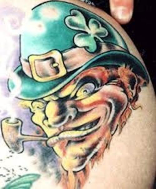 Clover, Shamrock and Leprechaun tattoo (6)