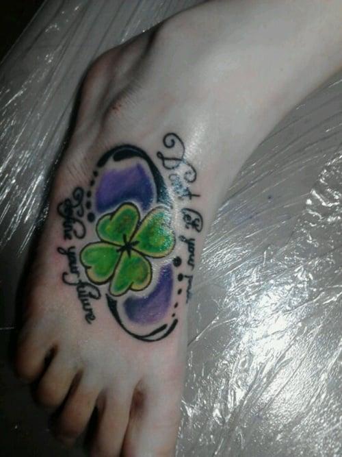 Clover, Shamrock and Leprechaun tattoo (9)