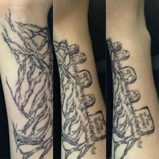 Graveyard And Cemetery Tattoos (1)