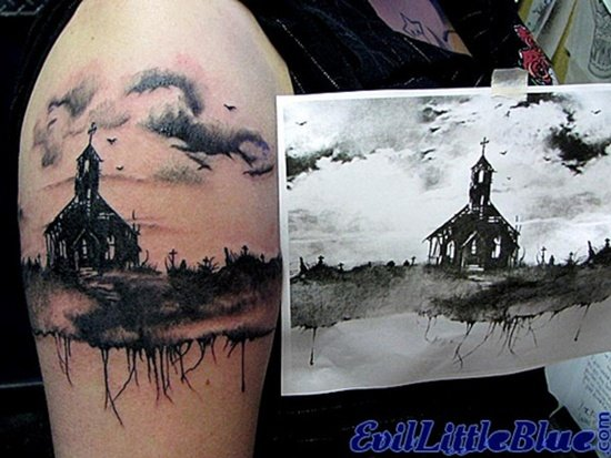Graveyard And Cemetery Tattoos (10)