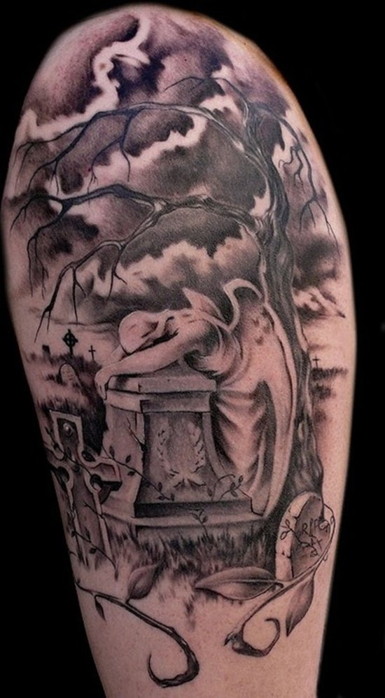 cemetery and cemetery Tattoos (14)