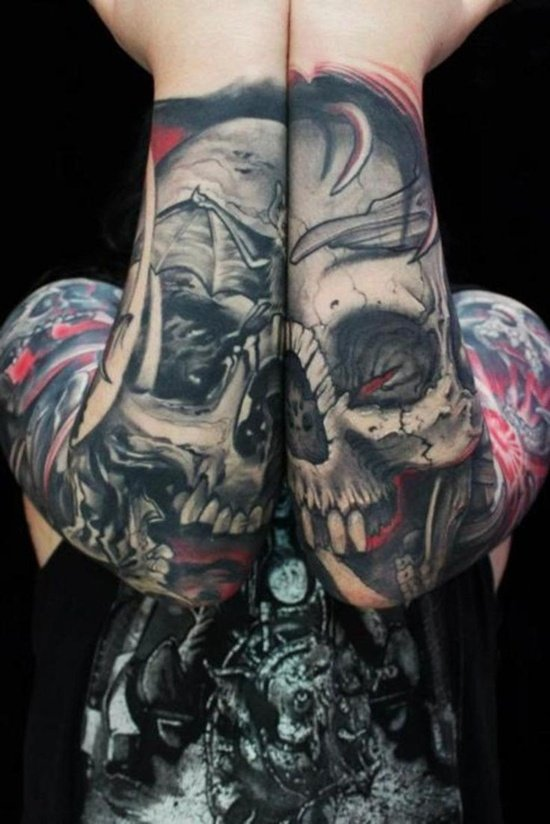 Graveyard And Cemetery Tattoos (19)