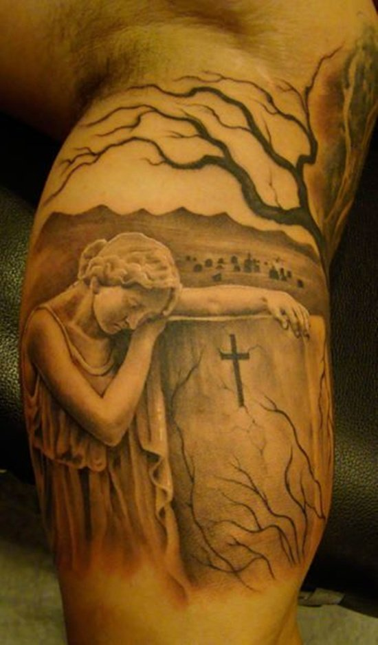 Graveyard And Cemetery Tattoos (2)