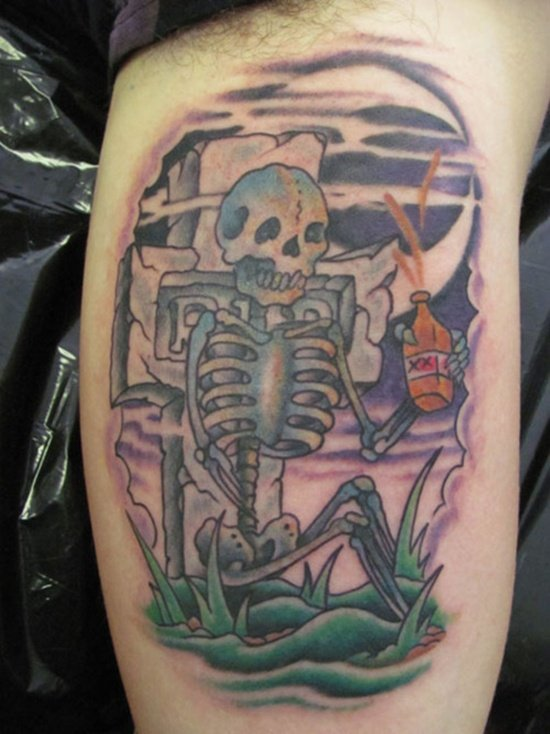 Graveyard And Cemetery Tattoos (21)