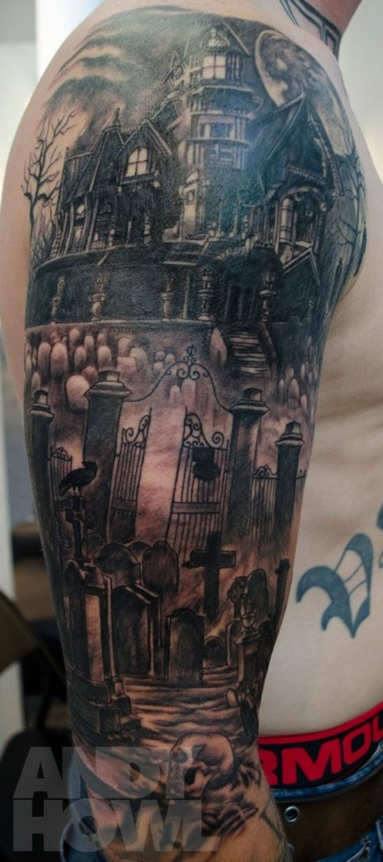 Graveyard And Cemetery Tattoos (4)