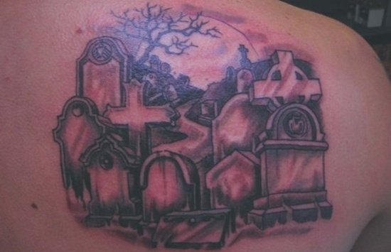 Graveyard And Cemetery Tattoos (8)
