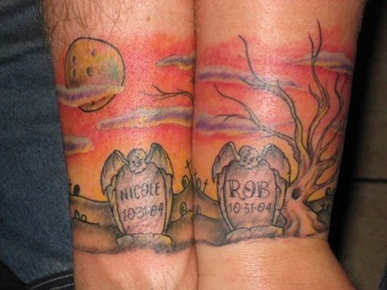 Graveyard And Cemetery Tattoos