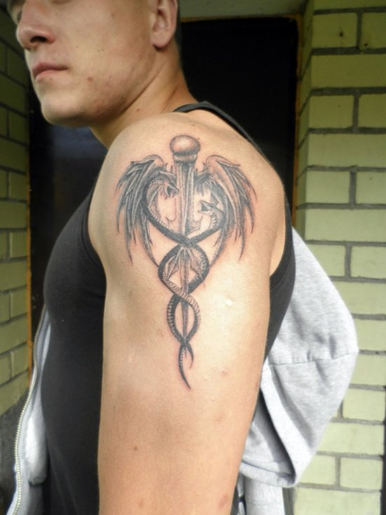 caduceus tattoo (5)