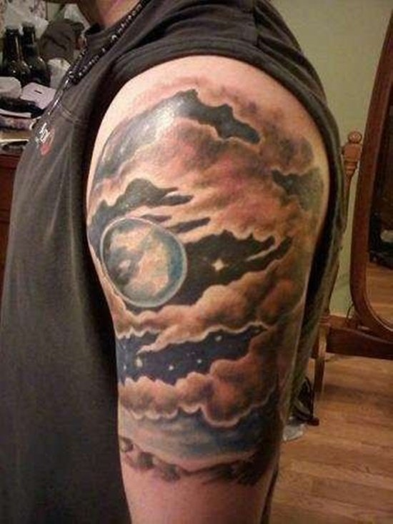 55 Dreamy Cloud Tattoo Art To Choose From