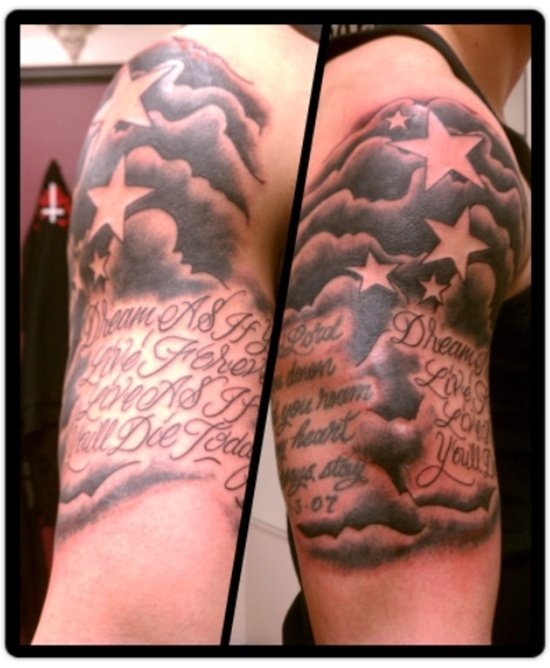the gallery for gt cloud background tattoos
