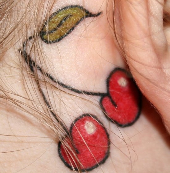 ear back tattoo (11)