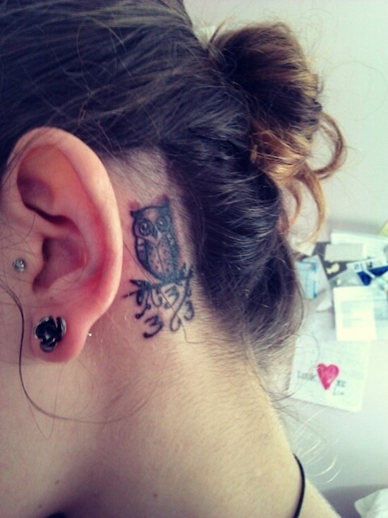 ear back tattoo (24)