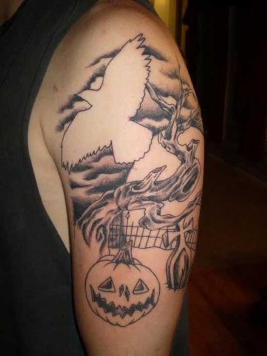 Evil Pumpkin Tattoo