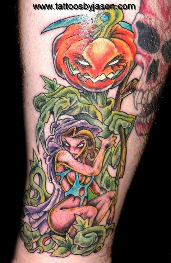 Evil Pumpkin Tattoo (13)