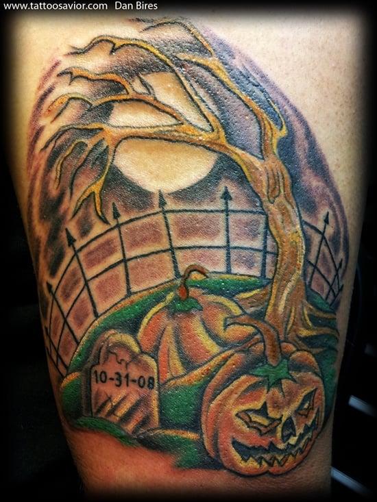 Evil Pumpkin Tattoo (14)