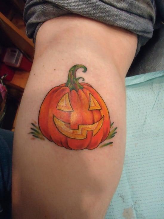 Evil Pumpkin Tattoo (7)