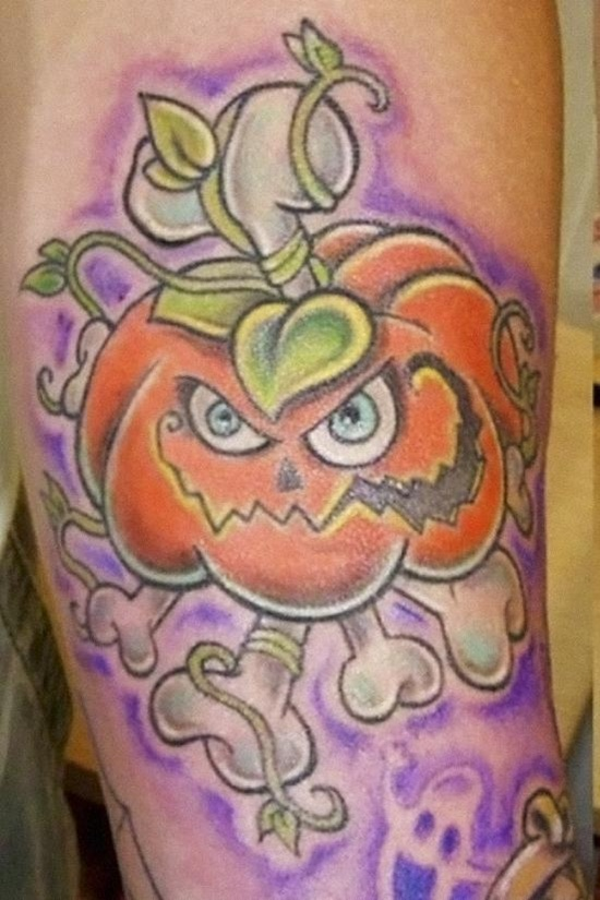 Evil Pumpkin Tattoo (3)