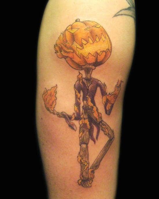 Evil Pumpkin Tattoo (19)