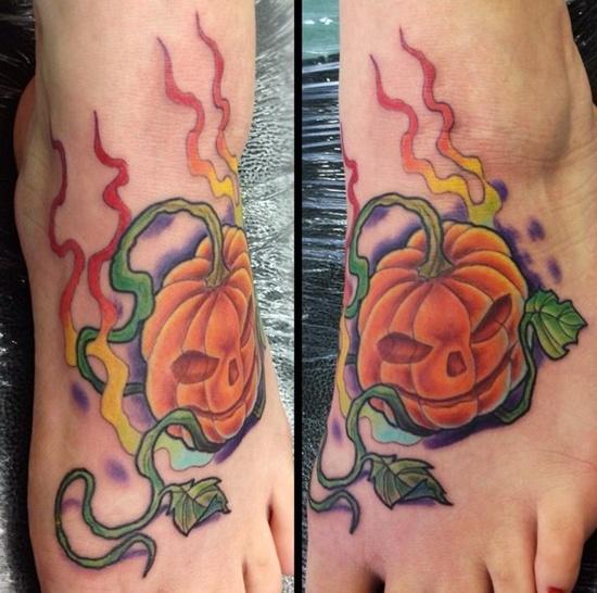 Evil Pumpkin Tattoo (4)