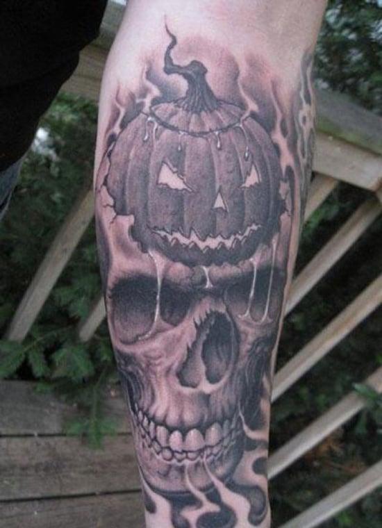 Evil Pumpkin Tattoo (21)