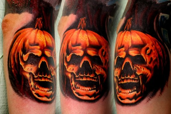 evil pumpkin tattoo (21)