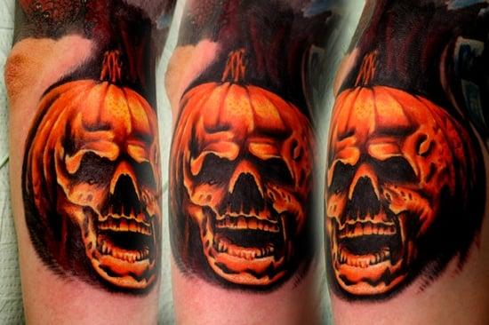 Evil Pumpkin Tattoo (22)