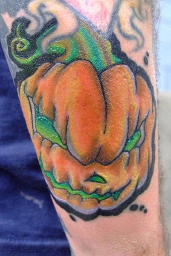 Evil Pumpkin Tattoo (23)