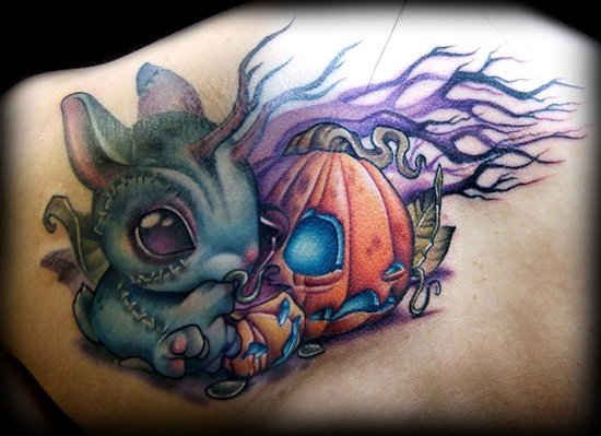 evil pumpkin tattoo (24)