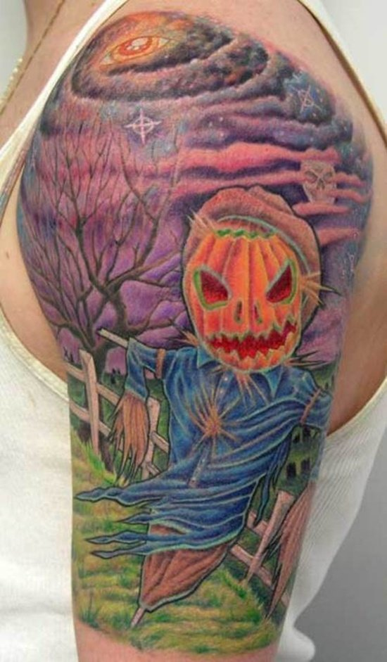 evil pumpkin tattoo (3)