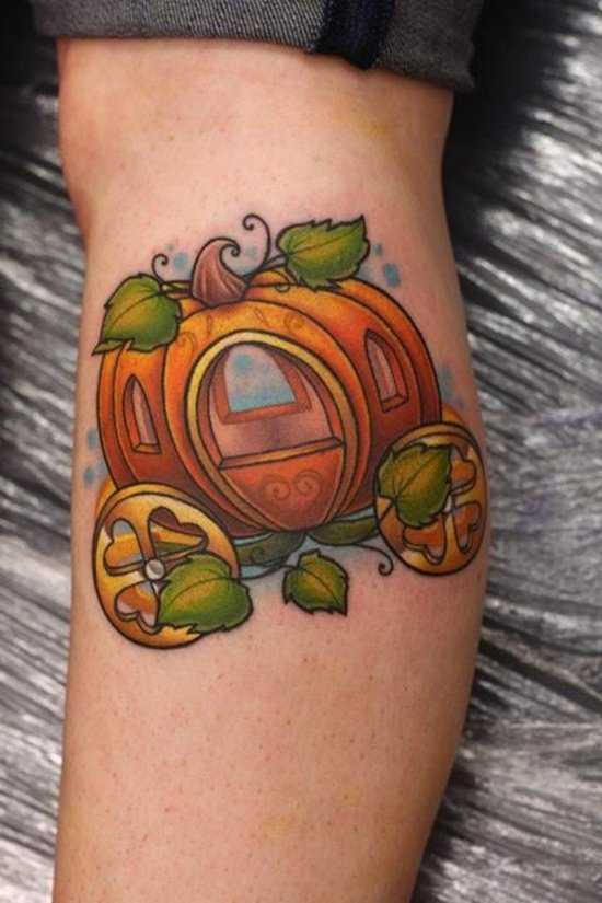 evil pumpkin tattoo (4)