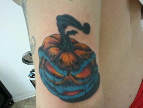 evil pumpkin tattoo (5)