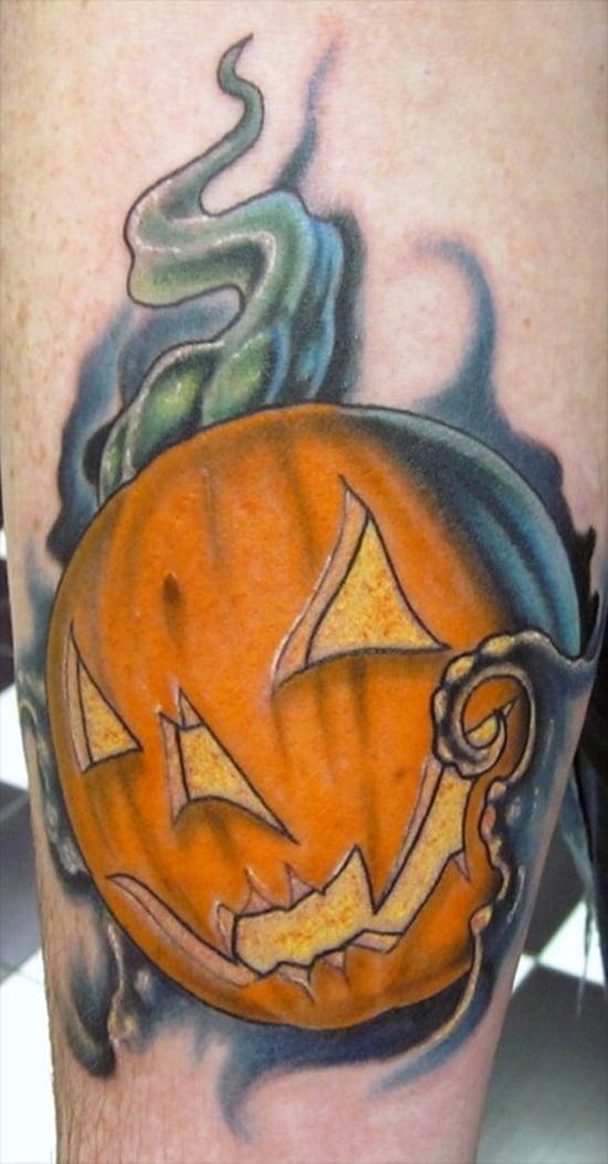 Evil Pumpkin Tattoo (10)