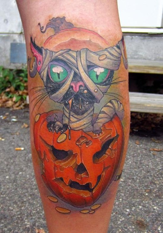 evil pumpkin tattoo (7)