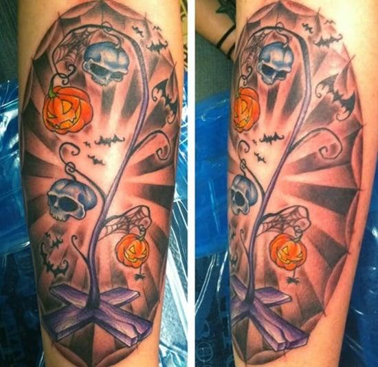 evil pumpkin tattoo (9)
