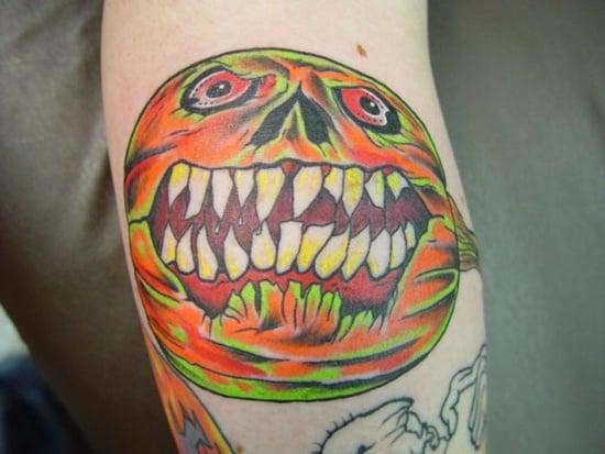 Evil Pumpkin Tattoo (2 )