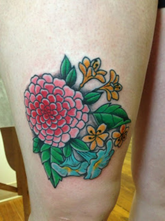 morning glory flower tattoo (14)