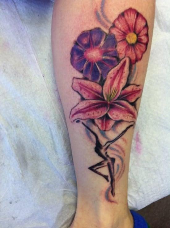 morning glory flower tattoo (2)