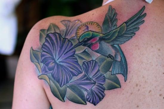 morning glory flower tattoo (22)