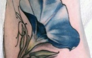 morning glory flower tattoo (23)
