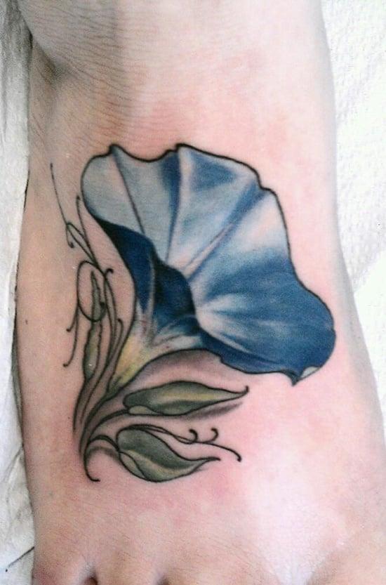 morning glory flower tattoo (23)