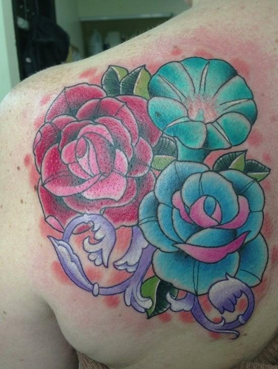 morning glory flower tattoo (5)