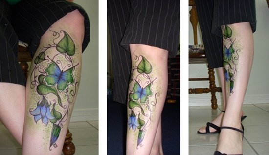morning glory flower tattoo (6)