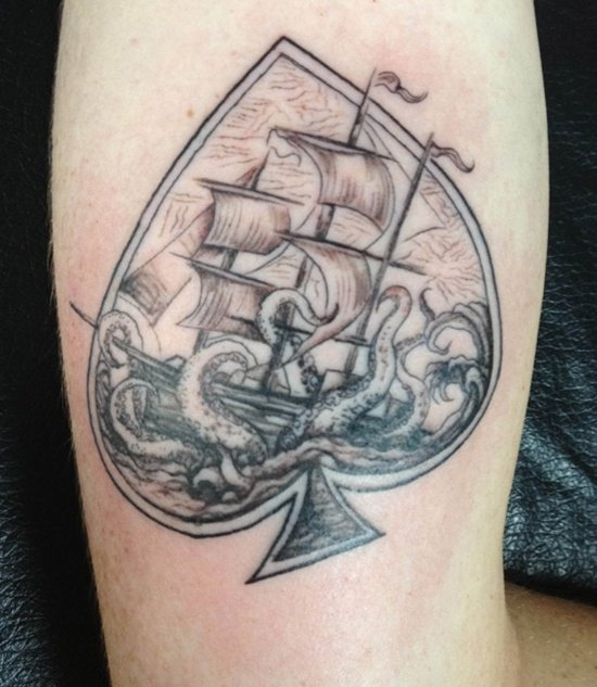 Some common meanings of Ace of spade tattoos and spade tattoos: