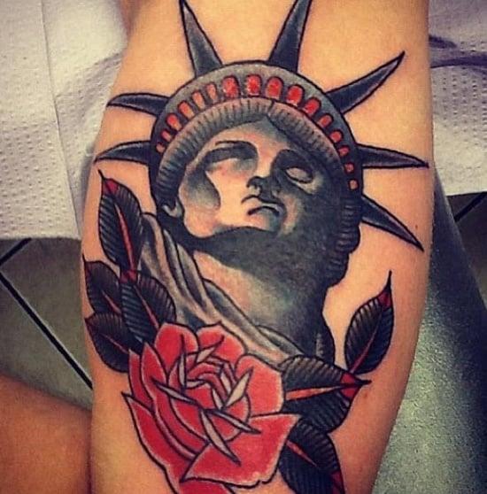 statue of liberty tattoo (12)