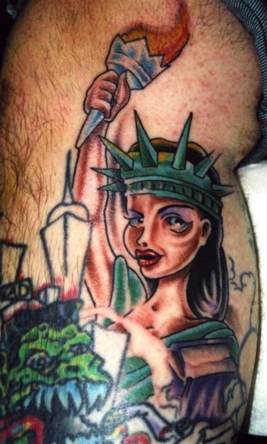 statue of liberty tattoo (13)