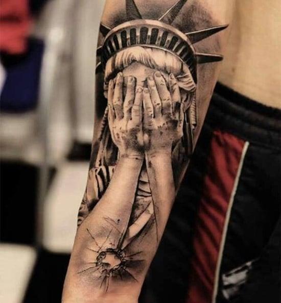 statue of liberty tattoo (16)